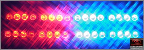 美国VS Signal GL332A2中网灯LED爆闪灯1带8警灯-奥迪A6L专用